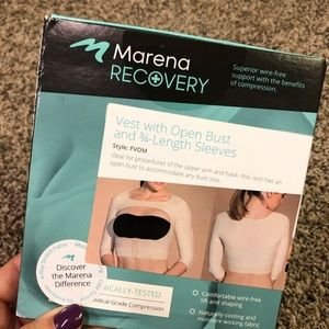 Marena recovery vest with open bust XL nude